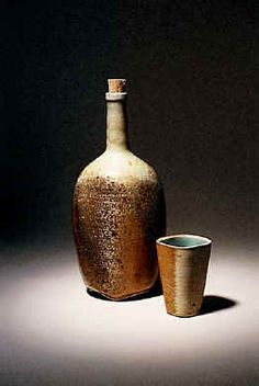 ceramic bourbon cups | Thomas Rohr Tall Bourbon Bottle and Cup