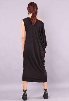 Black Long Dress Plus size dress Black dress loose