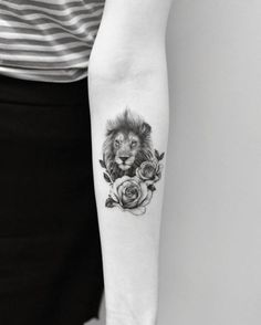 nice Animal Tattoo Designs - Cool lion design by Drag Ink...