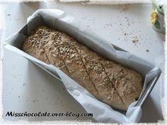 Véritable pain intégral (machine à pain) - Le blog de Miss Chocolate Nutrition, Comme, Banana Bread, Desserts, Blog, Flat Cakes, Rice, Brown Bread, Bread Maker Machine