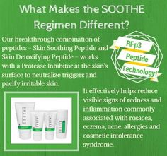 Do you have sensitive skin? Try Soothe Regimen. 60 day empty bottle money back guarantee. Try it today! #soothe #sensitiveskin