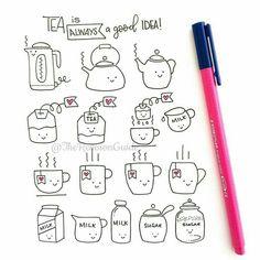 Tea doodles