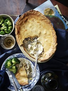 What a Great Combination - Chicken, Leek, Cheese and Prunes in a Pie