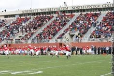 Another shot of Benedetti Wehrli Stadium at North Central College, Naperville, IL. I actually played here before the name change & renovation. It was nice then but this is a step above & beyond. Stadium holds 5000 in the stands and up to 15000 with standing areas and additional benches.
