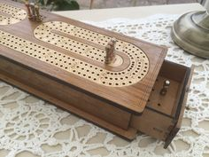 New! Cribbage 3 Track in Solid Sheesham