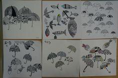 Pen Illustration : Pattern drawing / 5th grade