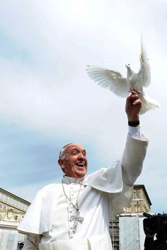 Pope Francis and Dove (just in time for Pentecost!)