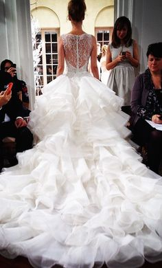 Ines Di Santo - amazing bridal gowns with long trains and beautiful backs