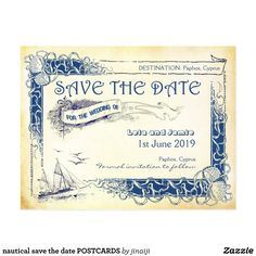 Save The Date Destination Wedding Tropical Island Postcard