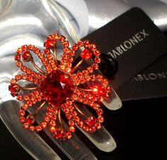Czech Rhinestone Ring - Strass Ring Rot - 1A-Qualität von Jablonex