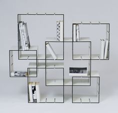 KONNEX is a basic cube set, which can be assembled to create a shelf unit.