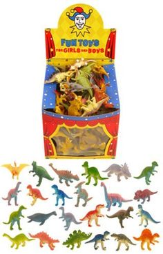 12 Mini-Dinosaurier -Spielzeug / Geschenk -Bevorzugungen / Kinder Kids Party Bag Füllstoffe