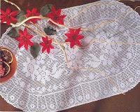 crochet em revista: Naperon oval