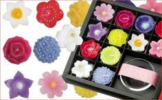 Japanese aroma candles 和風アロマキャンドル 花づくしギフトセット