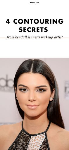 The secret to Kendall Jenner's contour, straight from her makeup artist // via @byrdiebeauty
