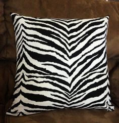 Items similar to Black & White Zebra Throw Pillowcase, Lumbar Pillow Cover Animal Print Home Accent, Euro, Sham, Kidney Pillow Cover on Etsy White Zebra, Handmade Pillows, Throw Pillow Cases, Animal Design, Decorative Throw Pillows, Animal Print Rug, Doll Clothes, Arts And Crafts, Etsy Shop