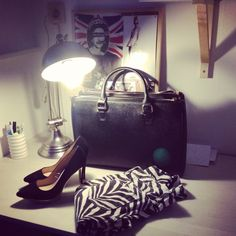 Zara shoes , zara office city bag, zara zebra pants