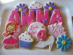 ~ love the letter cookies!