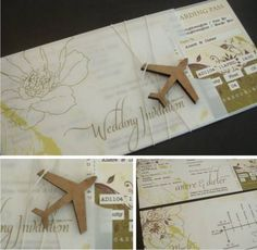 Travel airline ticket wedding invitation-amazing!