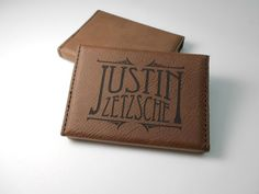 Custom Personalized Engraved Leather Business Card Holder  Business Card Case, Groomsmen Gift, Bridal Gift, Business Gift