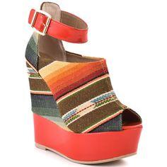 Steve Madden   Kennyya - Orange Fabric.... dear baby jesus i need this