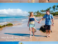 ***Mokapu Beach - super cute, holding hands & walking towards camera.  would like better if guy was blocking view of buildings in background, but they are pretty minimally visible, so ok as is...