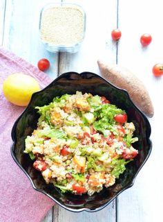 Salată de quinoa şi cartofi dulci Quinoa, Food Inspiration, Cobb Salad