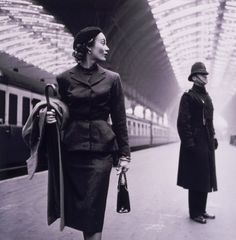 Victoria Station, London, 1951. I love everything about this photo so much. via Tumblr.