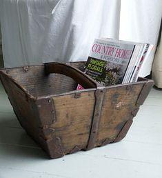 I love old wooden baskets!