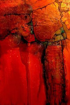 """""""ANASAZI"""" by Carol Nelson mixed media ~ 36 x 24"""