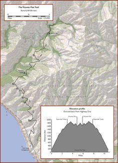 Vicente Flat Trail - in Los Padres National Forest, Big Sur - quintessential Big Sur hike, no signs of development along trail, trail is not maintained by any park authority so can be narrow and overgrown in some areas, poison oak and tick-infested brush should be expected | Redwood Hikes