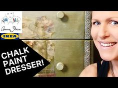 Annie Sloan Chalk Paint Dresser: 2 Artists, IKEA Dresser Challenge with Special Guest Annie Sloan! Annie Sloan Chalk Paint Dresser, Chalk Paint Furniture, Ikea Dresser, Chalk Paint Colors, Special Guest, Challenges, Artists, Painting, Youtube