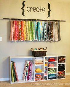 Almacenar las telas en el cuarto de costura - Decoracion - EstiloyDeco