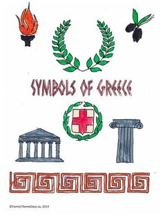 Greece Symbols, Writing name using Greek letters - For Girl Scouts Greece World Thinking Day Mythology Books, Greek Mythology, Greece Tattoo, Greece Party, Greece Girl, Cultural Crafts, Dance Themes, World Thinking Day, Greek Culture