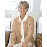 National Classic Cardigan Sweater, Beige, Medium (Apparel)By National