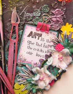 Good Morning you lovely Crafter's Hope all is well in your Crafting World. Today is the start of a new Challenge over at That Craft . Palette, Great Teacher Gifts, All Is Well, Elementary Art, Alters, Artist Painting, Mixed Media Art, Canvas Ideas, Colour