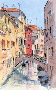 35 Easy Watercolor Landscape Painting Ideas To Try - Cartoon District Aquarelle facile paysa 35 Easy Watercolor Landscape Painting Ideas To Try - Cartoon District Aquarelle facile paysage idées de peinture Watercolor Art Landscape, Watercolor City, Watercolor Flower, Watercolor Architecture, Watercolor Landscape Paintings, Landscape Drawings, City Landscape, Watercolor Sketch, Urban Landscape