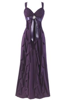Wedding, Dress, Purple, Bridesmaid, Plum, Eggplant - Project Wedding