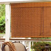 "Found it at Wayfair - Imperial Matchstick Bamboo Roll-Up Blind with 6"" Valance in Fruitwood. Too big?"