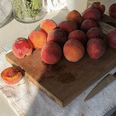 peach, fruit, and food image Good Food, Yummy Food, Tasty, Brunch, Aesthetic Food, Peach Aesthetic, Bon Appetit, Cravings, Foodies