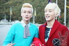 """B.A.P releases BTS photos from """"Stop It"""" MV: Youngjae and Jongup"""