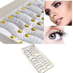 9d4abbff54e 10Pairs Makeup Handmade Soft Natural Fashion Long False Eyelashes Eye  Lashes New False Eyelashes, Makeup