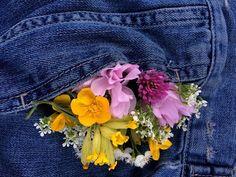 flowers, jeans, and tumblr Bild