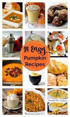 14 Easy Pumpkin recipes. My favorite pumpkin recipes that are quick and easy to make., bake and enjoy. #easypumpkinrecipes #healthypumpkinrecipes #pumpkinfoodideas #pumpkinsidedishrecipe