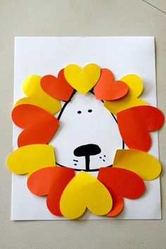 Lion valentines day craft for kids