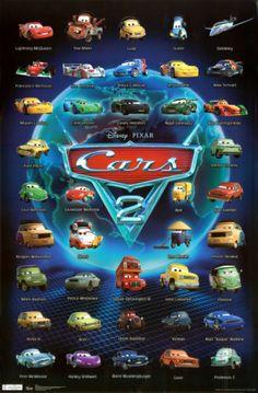 Cars: es una película de Walt Disney Pictures y los estudios Pixar. Animada por computadora y dirigida por John Lasseter y Joe Ranft, fue estrenada en 2006.