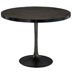 <div>Deliberately implement down-to-earth aesthetics with the Drive industrial modern dining table. Fashioned on a cast iron pedestal base, the round pine top is braced in a rim of iron to connote progress amidst rustic conditions. In contrast to the standard four legged tables, the single stand variety has been gaining popularity over the past 60 years. Now with the resurgence of industrial modernism, the warehouse of yesteryear comes remodeled into its present stance as an artform.&lt...