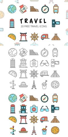 Before you Travel Vector Free Icon SetYou can find icon set and more on our website.Before you Travel Vector Free Icon Set Icon Design, Web Design, Flat Design, Travel Icon, Travel Logo, Icon Set, Vector Icons, Vector Art, Travel Doodles