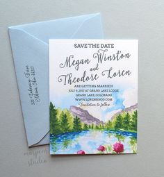 Spring Mountains Save The Date Sample A2 by MospensStudio on Etsy