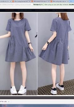 Simple Dresses, Cute Dresses, Casual Dresses, Short Dresses, Frock Fashion, Fashion Dresses, Asian Fashion, Teen Fashion, Frock Design